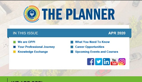 April 2020 Issue of The Planner newsletter